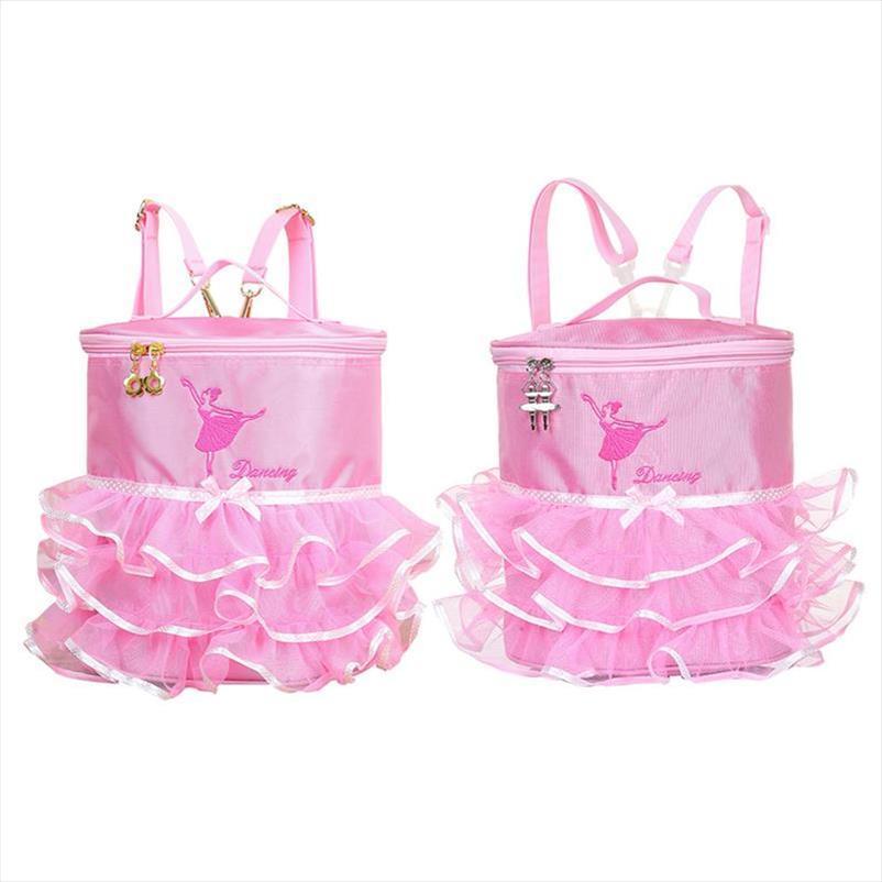 Ballerina Ballet Tutu Dress Dance Bag Backpack Handy Pouch School For Children Girls Cute Student Kids Backpack Bags Kid Girl
