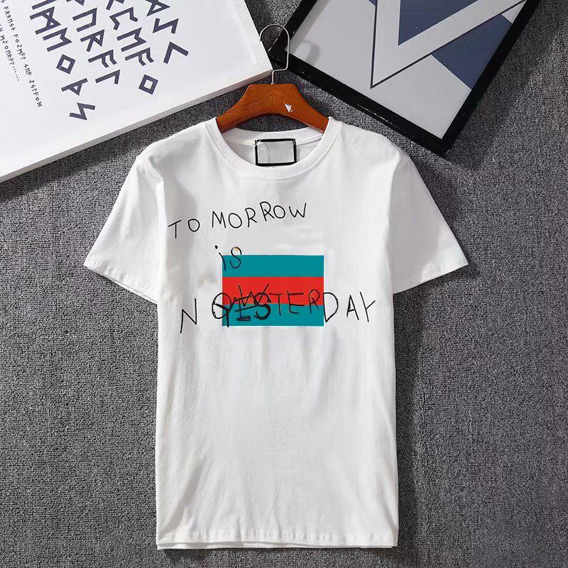 2020 nuove magliette per traspiranti allentati Shorts Maniche estate Donne Uomini lettere a righe Top stampati Mens T Shirt S -2XL