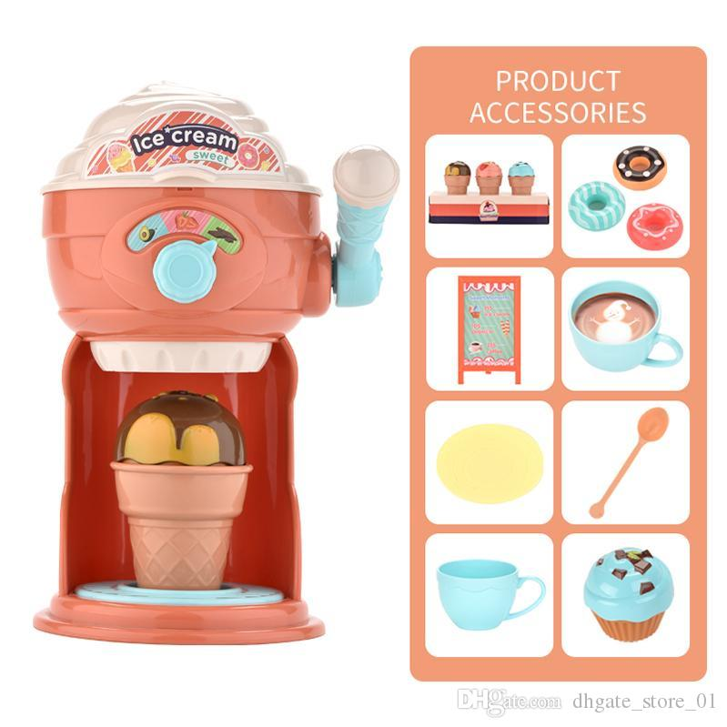 Carino creatore di gelato fingono il giocattolo di DIY da cucina macchina didattica fumetto per bambini Giocattoli sveglio interessanti Giochi di Ruolo ragazze regalo