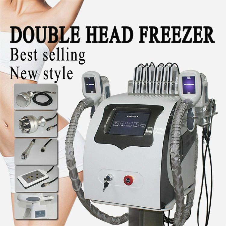 2020 5 A partir del 1 En la criolipólisis grasa Freeze adelgaza cuerpo de la máquina 2 Cryo Asas 40 Khz cavitación RF corporal Equipo para el salón Ce