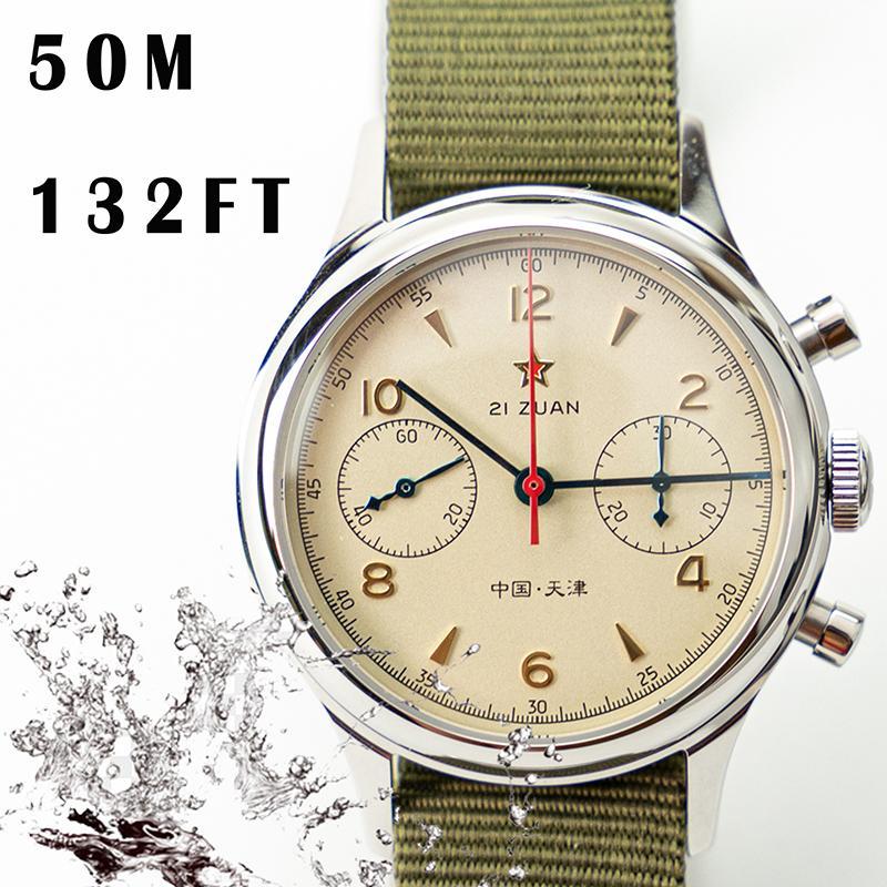 Orologi Uomini superiore di marca 1963 Sapphire meccanica Cronografo impermeabile 1901 Chronograph 38 millimetri orologi per gli uomini Reloj Hombre T200812
