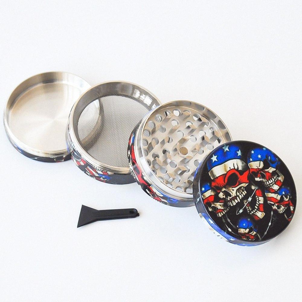 Hohe Qualität 50MM 4 Schichten Grinder Zink-Legierung Tabak Metall Grinder für das Rauchen Tag Kraut mit 3 Farben WcV3 #