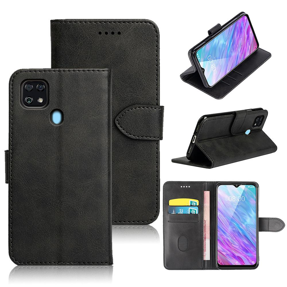 Cover TPU black soft silicone For ZTE Blade V2020 Vita Leather Flip Wallet Phone Case