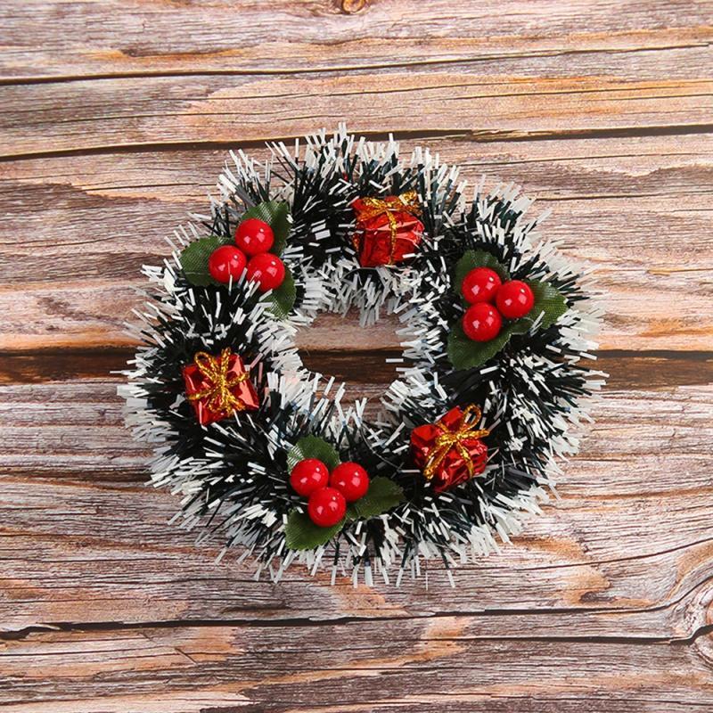 Grinalda do Natal com Artificial Pine Cones Bagas E a Apple férias Front Door Hanging Decoração Farmhouse Decor
