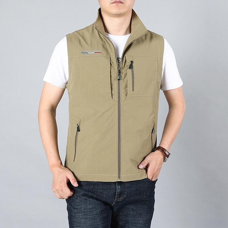 Открытый быстросохнущие мужская весна лето и осень карман пальто мульти-карман тонкий инструмент модный жилет жилет большого размера вскользь пальто