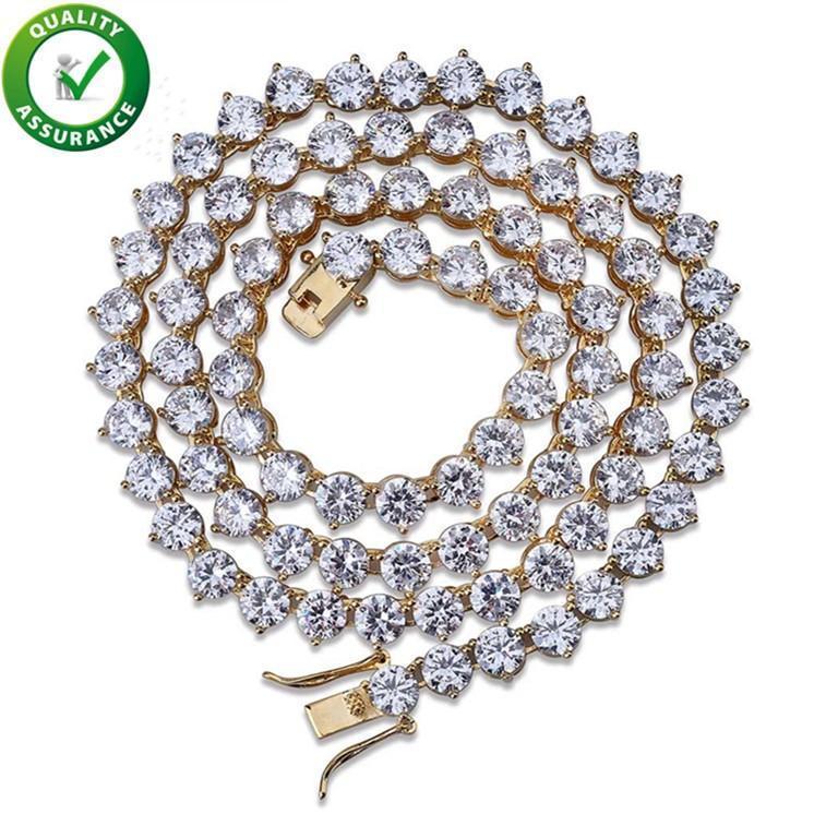 Hip Hop Bijoux Glacé chaînes de luxe de Collier en or Tennis hommes de diamant de Bling Collier cubain lien Style Pandora Charms Accessoires