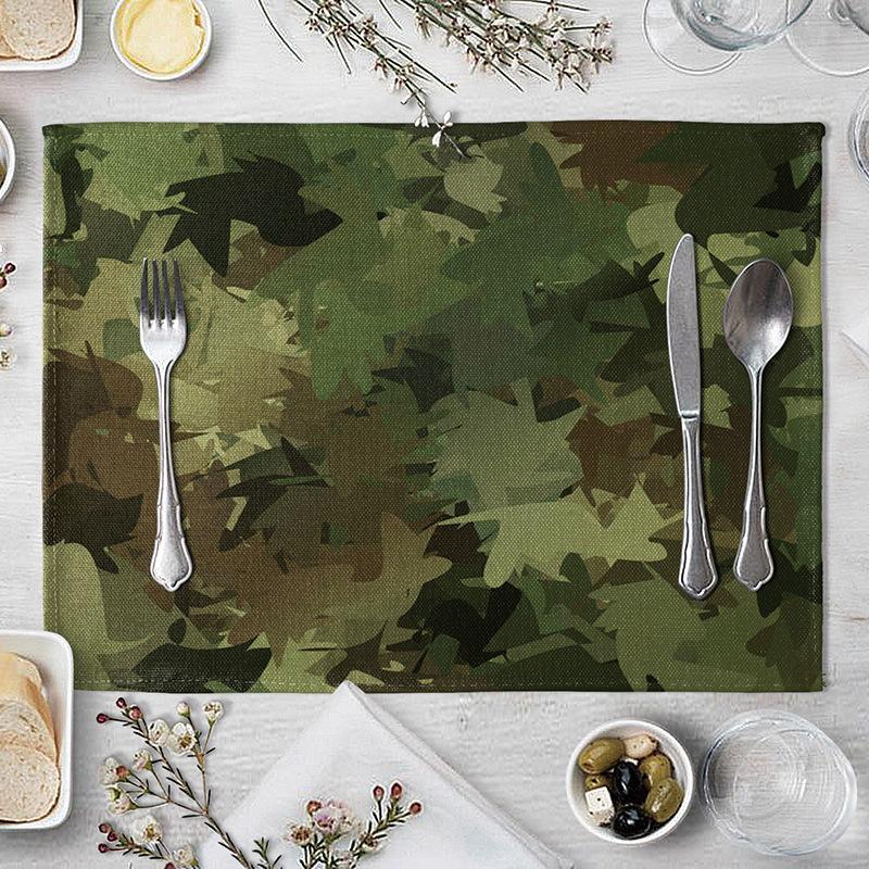 Camouflage Croc re Dian imperméable anti-dérapant Table Coussin Creative style occidental Set de table Sous-verres Plaques Potholder Rect
