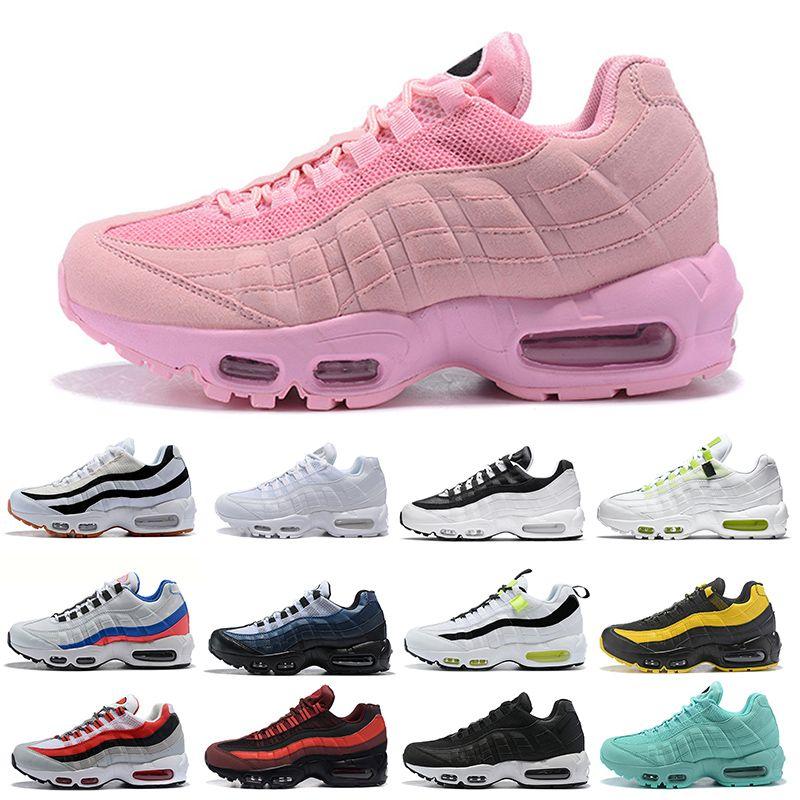 Sapatas Running por atacado para as mulheres rosa claro triplos amarelas Splatter Mens nova chegada ao ar livre formadores verde branco calçados esportivos 36-45