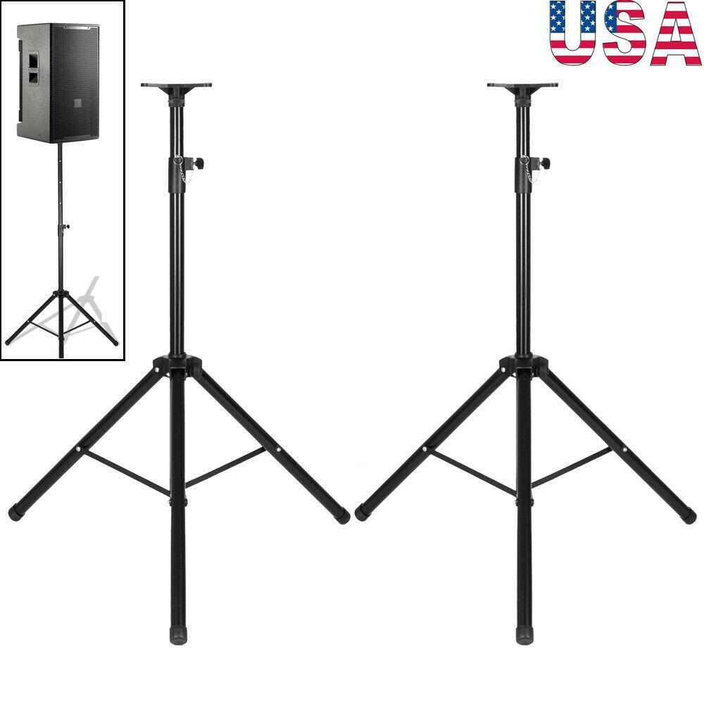 2ST höhenverstellbar 35mm Kompatibel Stativ DJ PA-Halter Flexible Stativadatper Stativhalterung für Lautsprecherständer