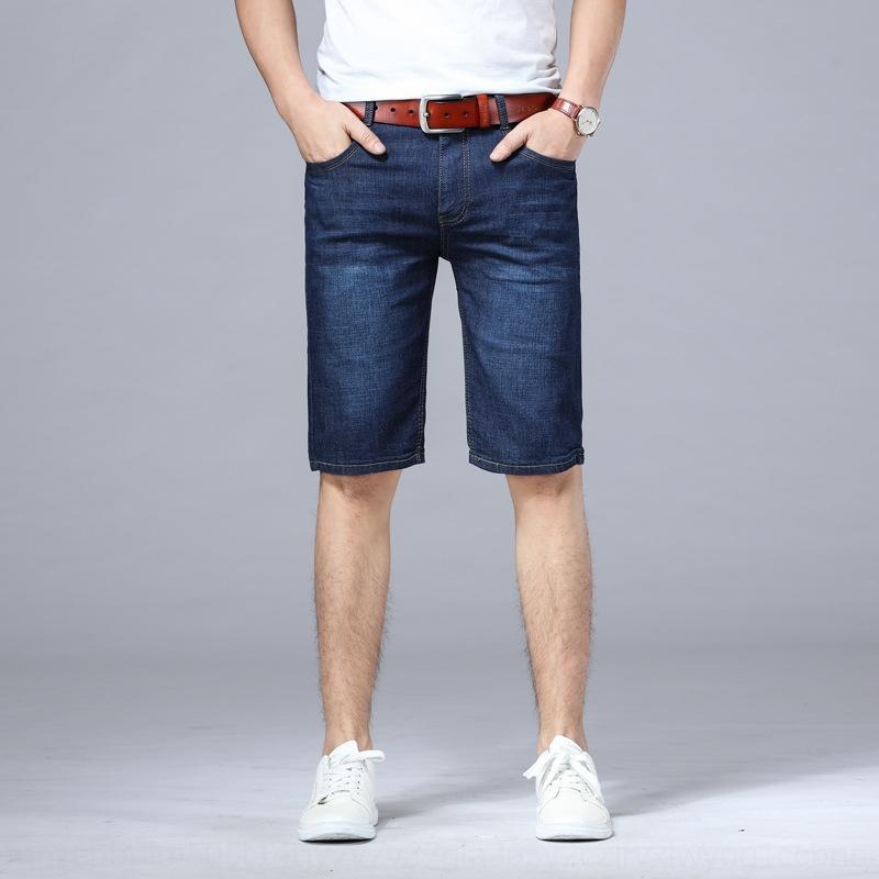 g7ZiJ été la mode des hommes minces de grande taille jean recadrée lâche longueur cheville et des jeans stretch homme Pantalons de bétail courir pantalons moyen