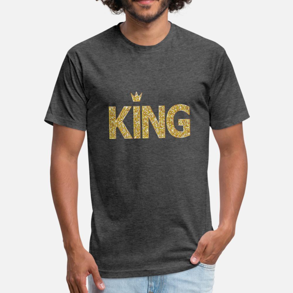 rey todos los hombres de la camiseta diseño de la camiseta de la camisa más el tamaño 3XL vestuario Regalo divertido camisa fresca Primavera Casual