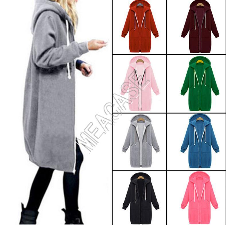Woman Overall Clothes Designer Hooded Long Sleeved Tops Fleece Sweater Oversize Fall Winter Women Mid-length Zipper Jacket Coat D82606