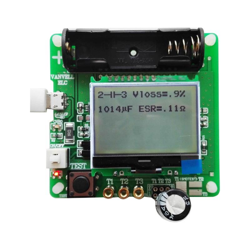 Nuovo 3.7V originale induttore condensatore ESR metro tester transistor multifunzione Kit condensatore test fai da te Circuito MG328