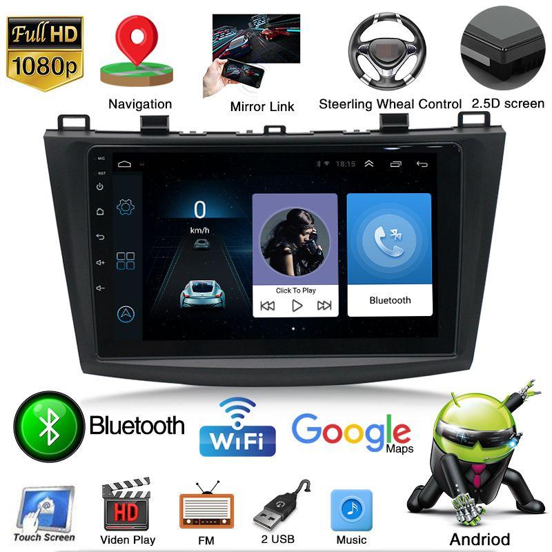 Android 9.0 ROM 1 RAM 16 Upgrade andorid Radio Video for MAZDA 3 2011-2015 Car DVD Player Bluetooth WIFI GPS Navigation