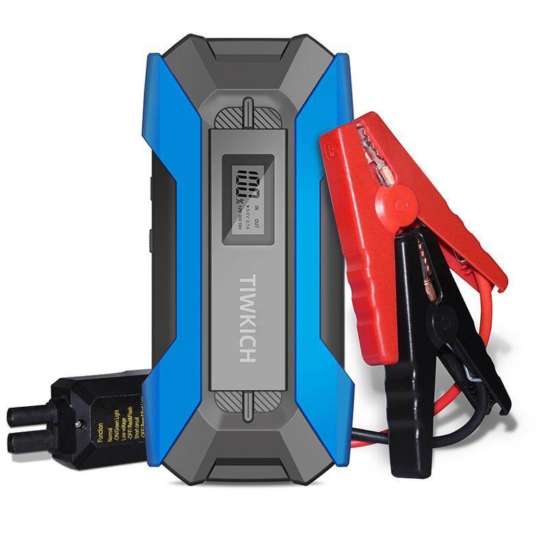 Minifish 휴대용 자동차 점프 스타터 1200A JumpStarter 12V 시작 장치 가솔린 자동차 스타터 비상 배터리 Charg
