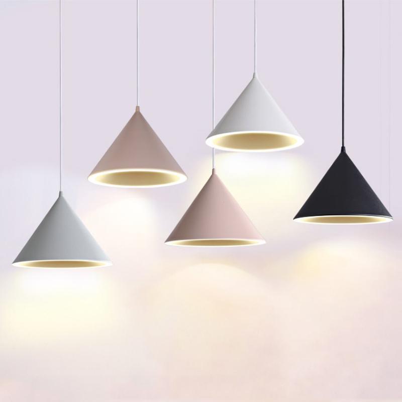 Nordic einfache moderner kreative Kronleuchter Persönlichkeit LED-Restaurant Licht Macaron-Restaurant Pendelleuchte bar Lampe
