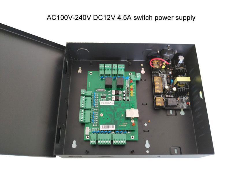 Новые TCP / IP два доступа двери управления случае питания 110V / 220 мощности управления доступом веб питания, поддержка б / с и с / с, зп: T02_set