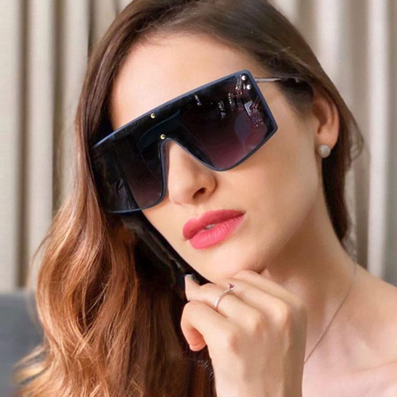 mimiyou Maxi-Goggle Sonnenbrille Weisefrauenniet Außen Retro Mode Sonnenbrillen Männer Marke UV400 Brillen Shades