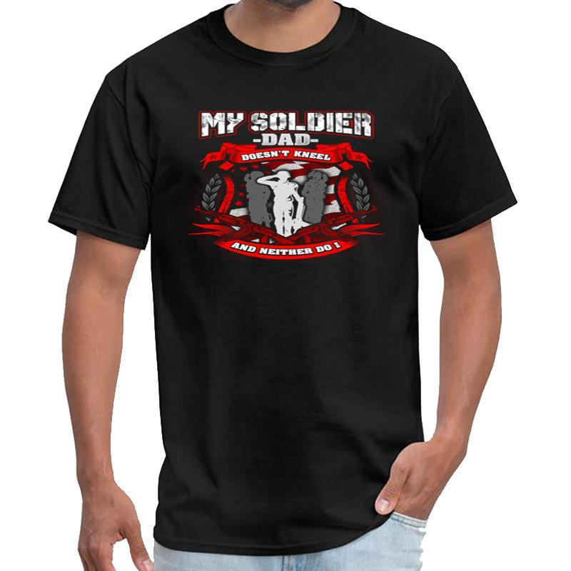Vintage meu soldado pai não Ajoelhe-se os 100 camisetas mulheres camisetas anime camisetas XXXL 4XL 5XL tee topos