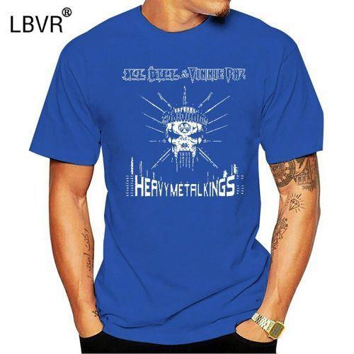 Manica corta maglietta del cotone o collo Nuovo Ill Bill e camicia Vinnie Paz Heavy Metal Kings UOMO T