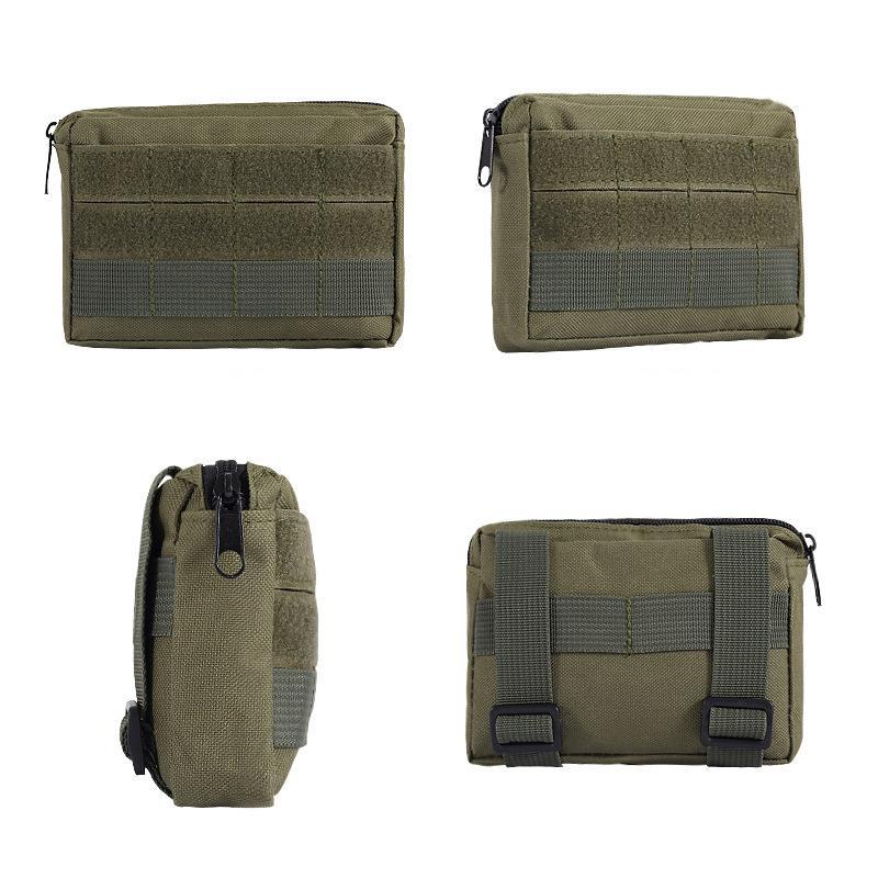 Marsupio nylon impermeabile tattico escursione di campeggio esterno tattico custodia da viaggio portatile Camouflage Tactical Sundries pacchetto DBC DH0839