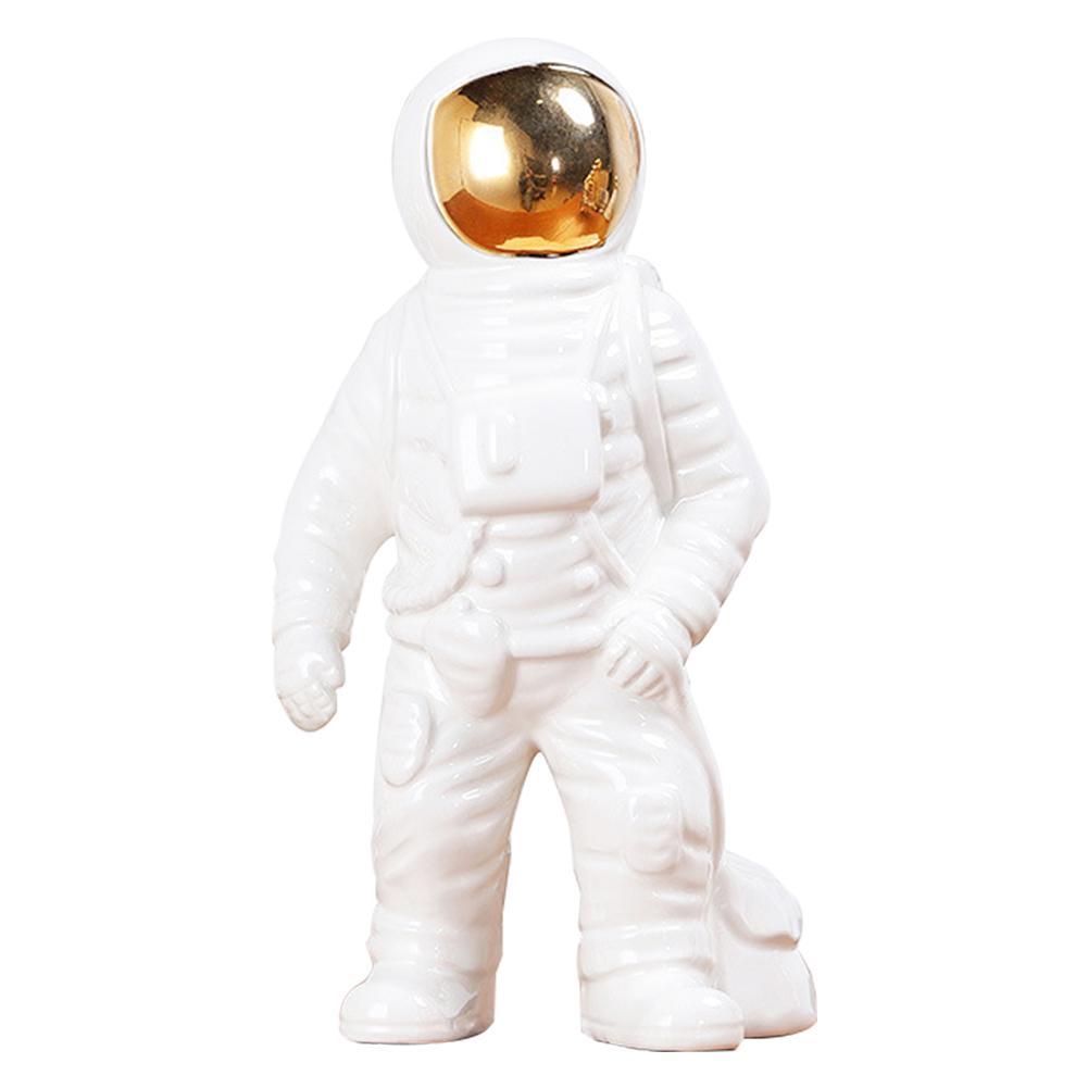 Daimi Oturma Kumbara Reçine Craft Ev Dekorasyonu Spaceman Süsleme Şekil