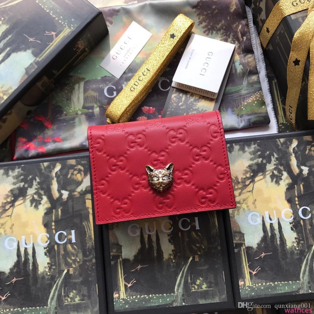Hombres y mujeres titulares de la tarjeta monedero, estilo europeo y americano, una variedad de opciones de color, libres de cargas, bolsas de regalo cajas + AA091