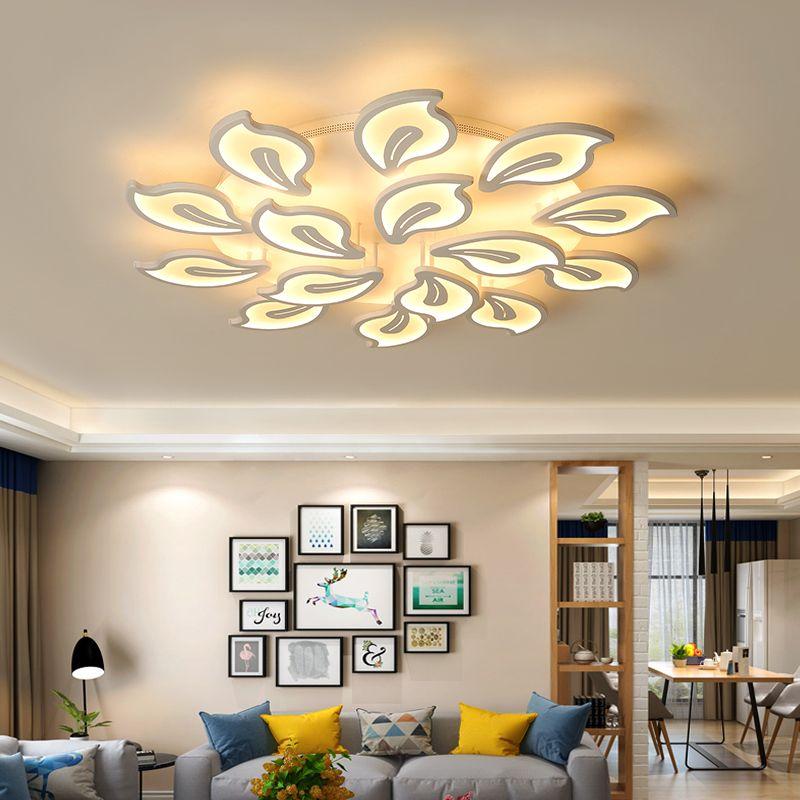 생활 스터디 룸 침실 램프; 장식 천장 AVIZE 실내를위한 새로운 디자인 아크릴 현대 주도 천장 조명