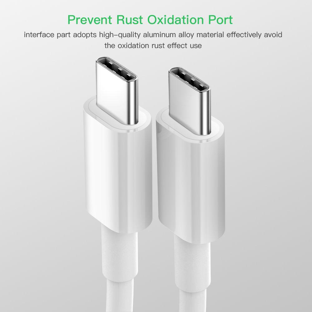 USB C a USB Tipo C Cable para Xiaomi Redmi Note 8 PRO CARGA RÁPIDA 4.0 PD 60W Carga rápida para MacBook Pro S11 Cable de cargador