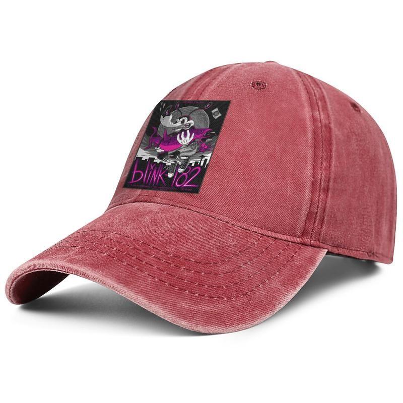Men Women Blink 182 Punk rock a day to remember Fashion Denim Baseball Cap Cool Washed Dad Hat Adjustable Vintage Ball California skull