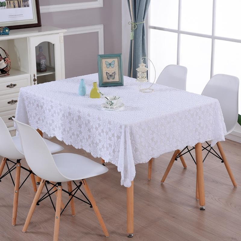 FLtX7 cubierta blanca metros Hueco-hacia fuera la toalla cuadrada tela de té blanco de mesa de encaje cuadrado té tela de mesa Reese fresca
