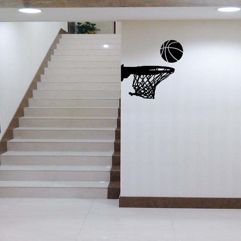 Yaratıcı Basketbol Hoop Duvar Sticker Salon İçin Ev Dekorasyonu Sanat Çıkartmaları Pvc Çıkarılabilir Spor Duvar Kenar Çıkartma pknqi