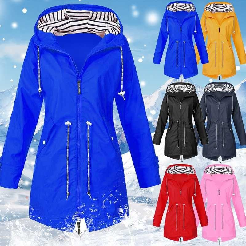 Jacket ao ar livre para as Mulheres Windproof Jacket Feminino 2020 Outono Inverno Zipper Brasão Caminhadas Escalada Ciclismo vestuário desportivo