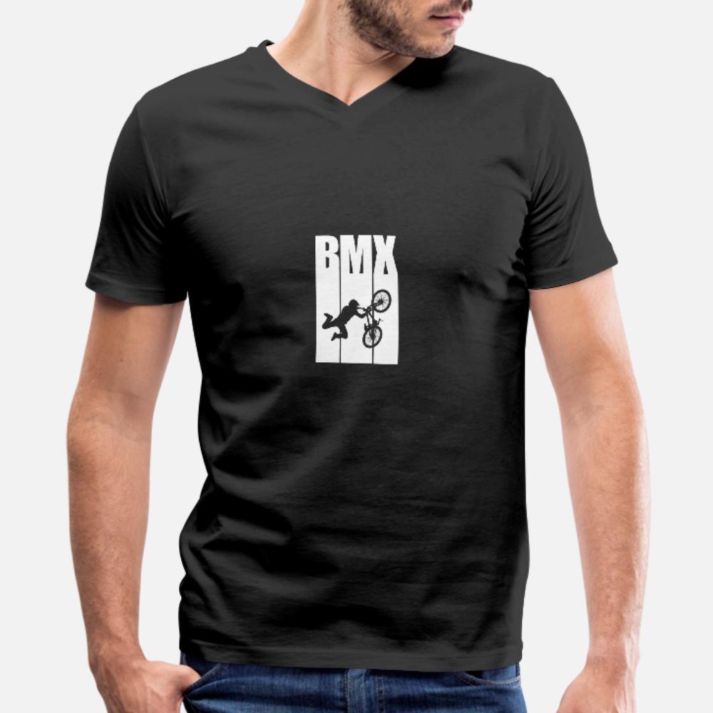 Bmx Urbano Estilo del motorista El deporte hombres de la camiseta impresa camiseta S-XXXL Fotos Fit auténtico verano camisa Estándar