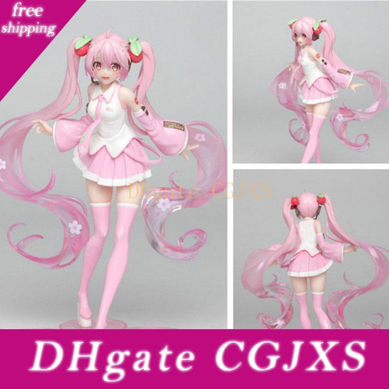 18cm Cherry Blossoms Hatsune Miku Future Japanese Anime Figures Toy Action Figure Sexy Model Christmas Gift
