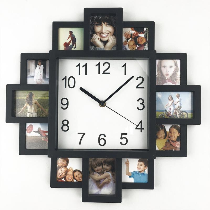 Diy Wall Clock Modern Design Diy Photo Frame Clocks Art Picture Unique Relogio De Parede Home Decor Multi Photo Large Clock Unique Wall Clocks Large Unique Wall Clocks Online From Sophine08 52 49