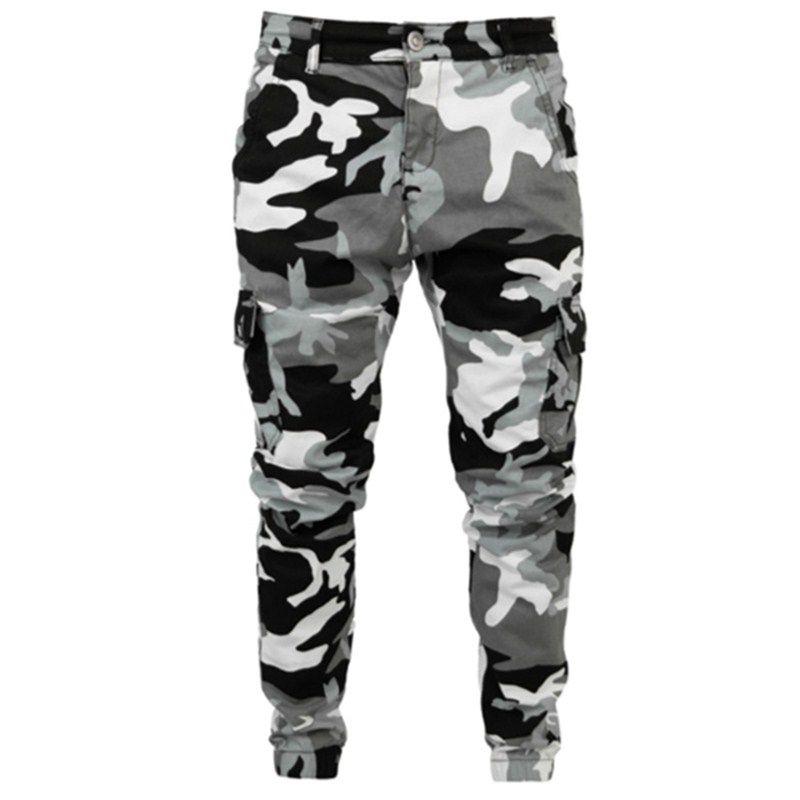 S-4X 2020 para hombre de alta calidad lápiz Harem Hombres camuflaje pantalones flacos de los pantalones de carga cómodo Camo Joggers
