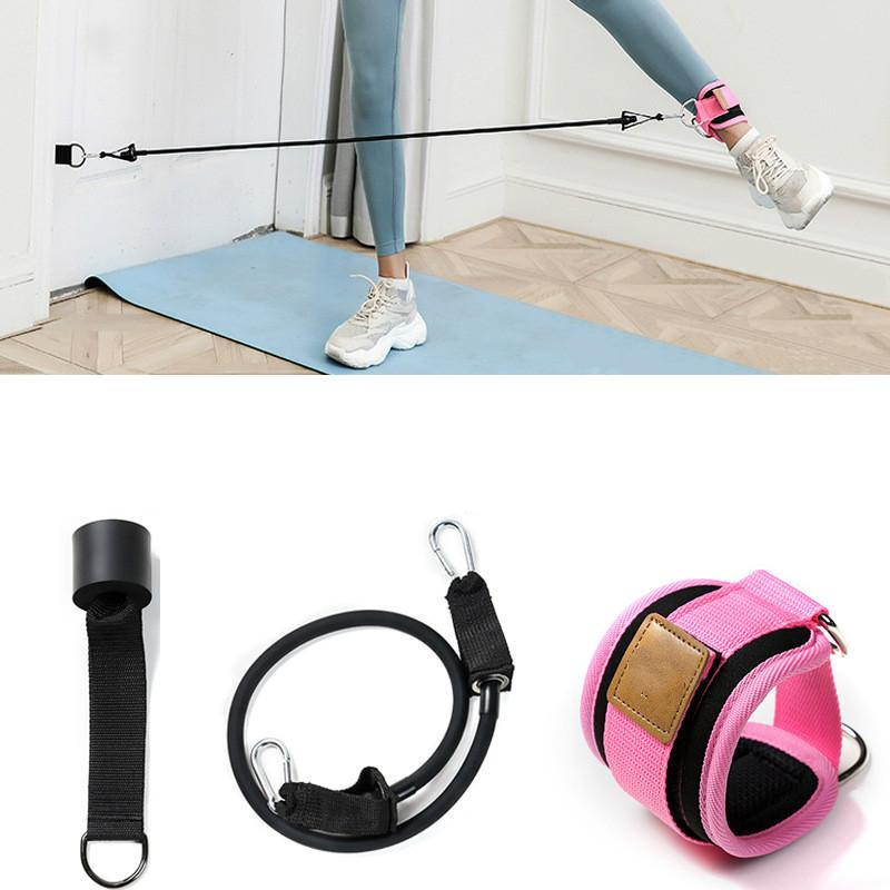 D-ring Ankle Anchor Band Exercise Resistance Thigh Sling Weight Lifting Exercise Elastic Bandage Workout Bands