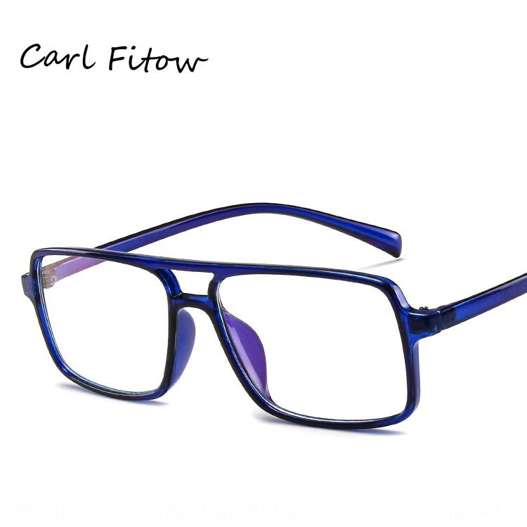 Korean style Myopia fashionable square plain trendy double beam frame can be equipped with myopia glasses frame new glasses