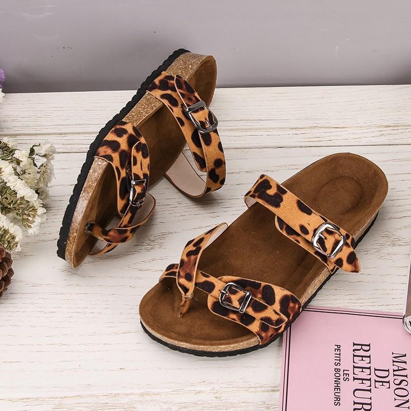 de las mujeres con estampado de leopardo Tamaño causal cubierta plana deslizadores de las mujeres 35-43 señoras de piel de serpiente suave gamuza zapatillas