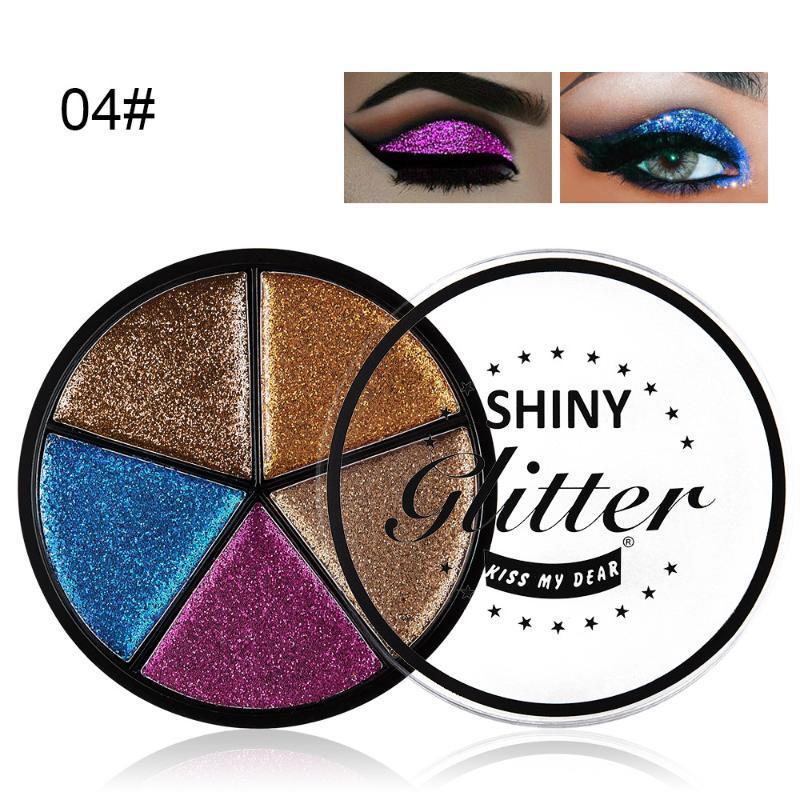 Europäische und amerikanische populäre Sequin 5 Farben-Augen-Schatten-Creme-Zwiebel Augen-Schatten-Schönheit Make-up