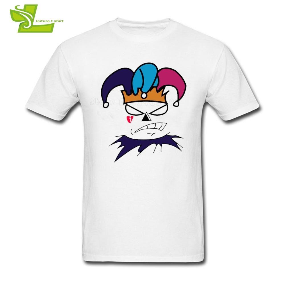 Rey y bufón camiseta de adolescentes Últimas camisetas simples floja fresca camiseta de los hombres del cuello de equipo del verano personalizado papá ropa