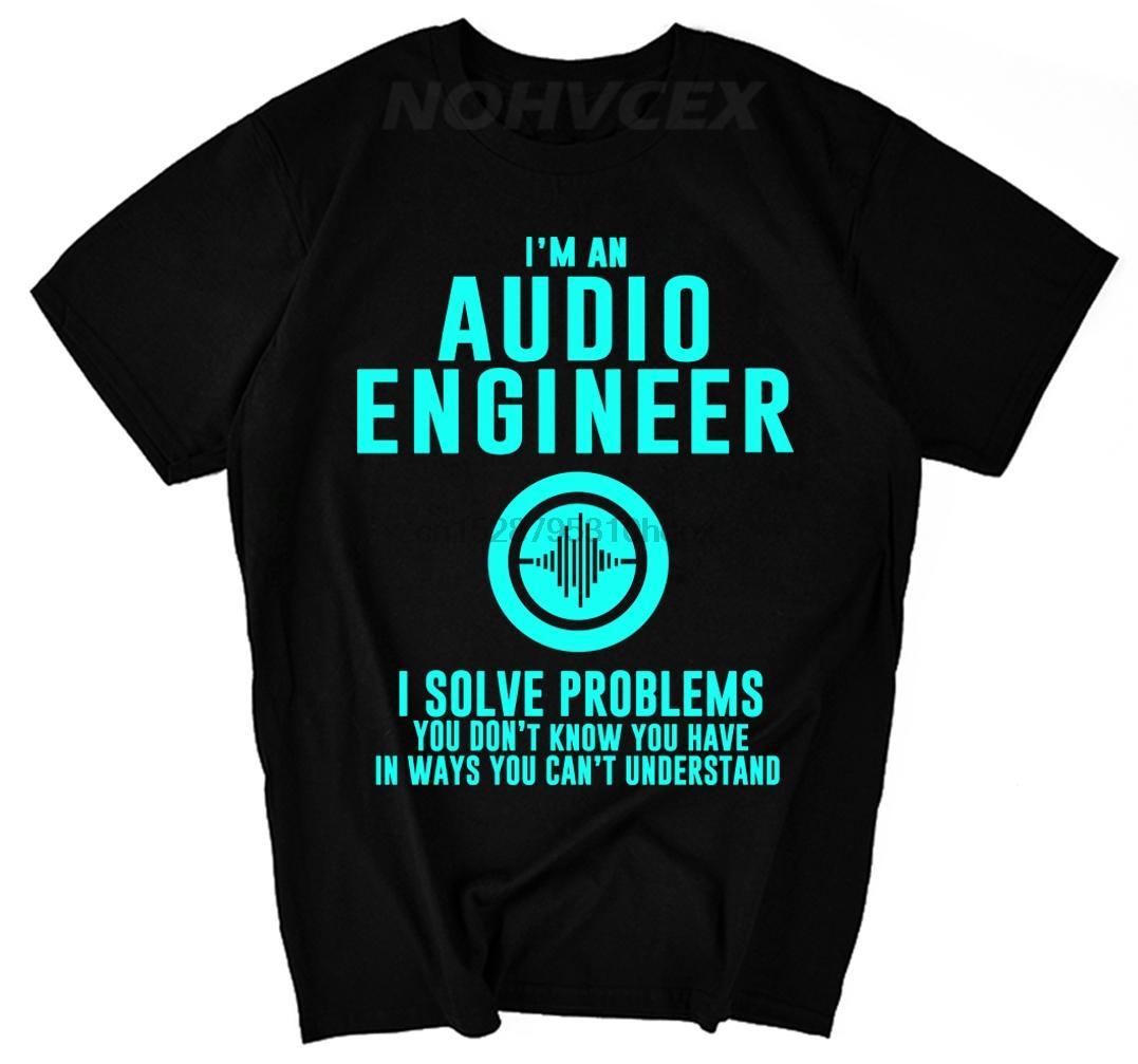 Мужчины Новая Летняя футболка Стиль Простой стиль Звукорежиссер Объяснение Мужчины Tee Shirt Печать Im Воспроизводится аудиофайл Инженер