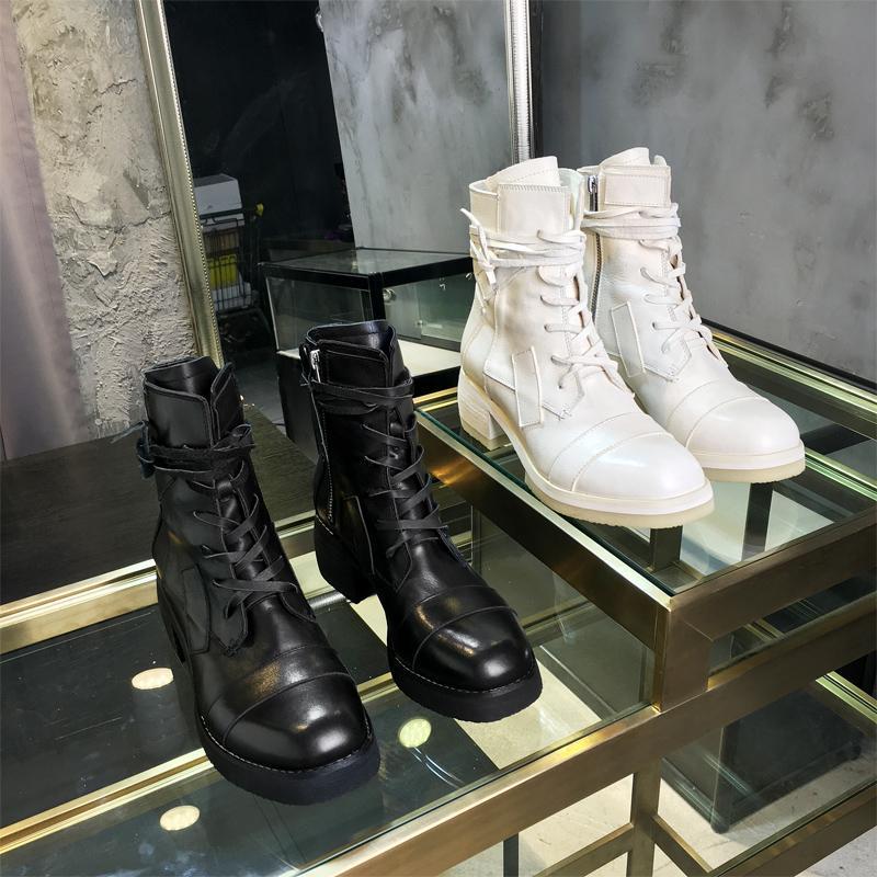 VALLU 2020 Sommer Stiefel wissen gut aussehende Stiefel britische Stil Leder starke Fersen dünne Outdoor-Freizeit