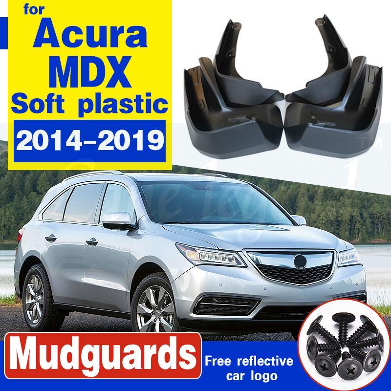 4 Stück Auto-Schmutzfänger für Acura MDX YD3 2014 ~ 2019 Fender Mud Flaps Guard Spritz Flap Radschützer Zubehör 2015 2016 2017 2018