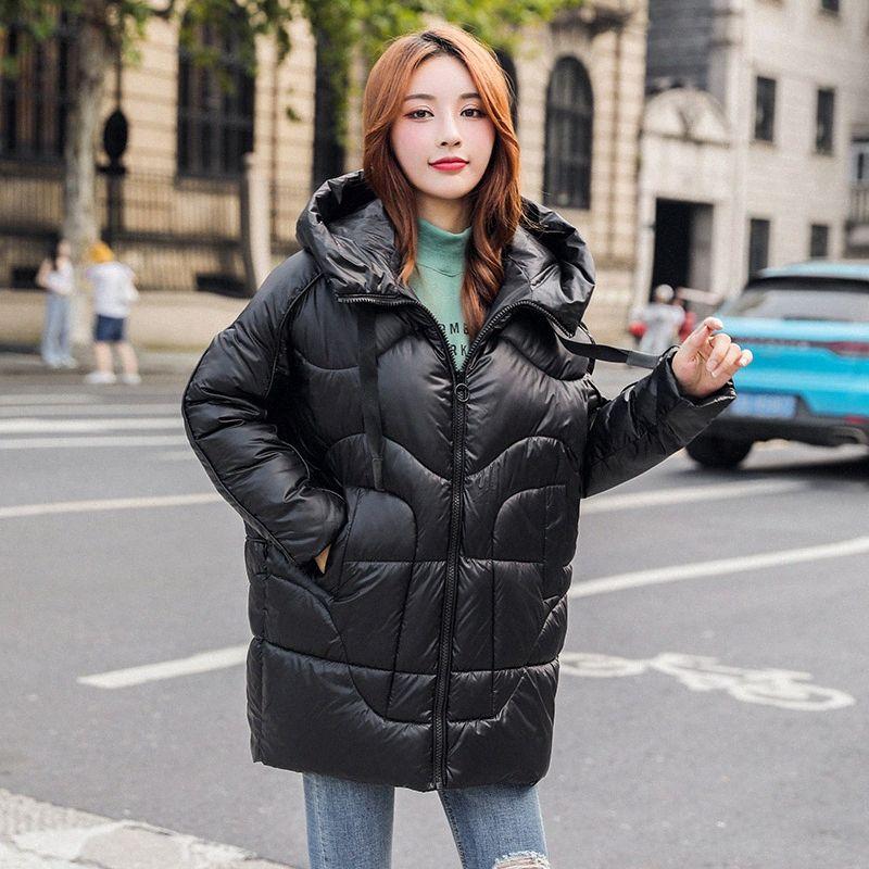 Şık Bayan Kış Parka Kadın Kış Ceketler Ve Coats Artı boyutu Gevşek Casual Ceket Coat Sıcak Outerwears TOFQ #