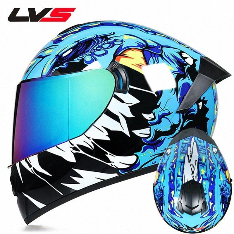 Tam Yüz Kask Motosiklet Sürüş Kaskı Emniyet Çift Lens Yarış Sıcak Ve Windproof YYry #