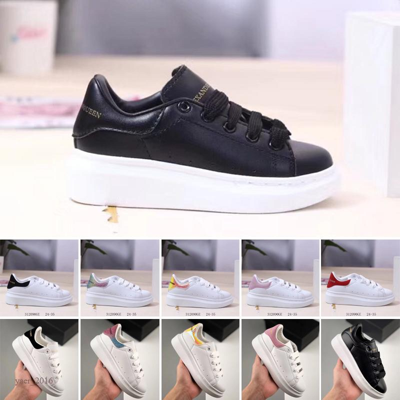 2020 new Velvet kids shoes high quality Platform Casual Shoes top mens Shoes Leather White free shipping