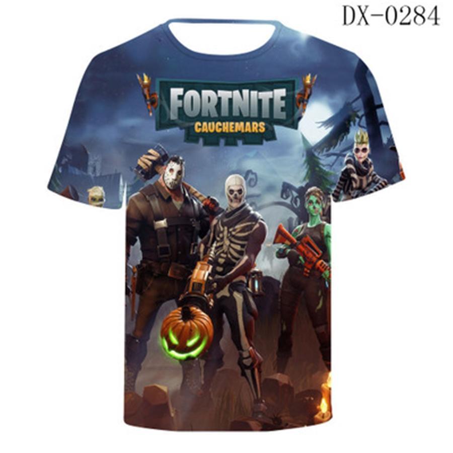 2020 neue kreativer 3D Digital Printing Fortress Nacht T-Shirt Sommer-Tops mit kurzen Ärmeln beiläufigen kühlen Breathable Mens Kleidung Fortress Nigh # 594