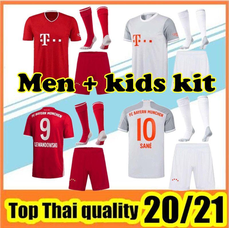 20 21 Bayern JAMES Fußball Jersey 2020 2021 München LEWANDOWSKI MULLER Trikot Hummels Fußballhemd Männer Sätze Uniformen + Socken
